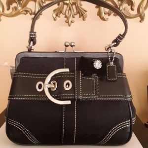 "Coach Mini Satchel Vintage Frame Bag Signature ""C"""